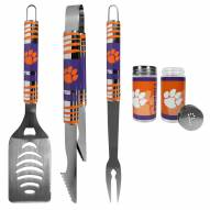 Clemson Tigers 3 Piece Tailgater BBQ Set and Salt and Pepper Shaker Set