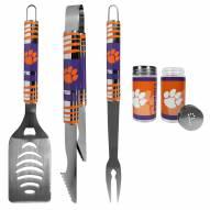 Clemson Tigers 3 Piece Tailgater BBQ Set and Salt and Pepper Shaker Set