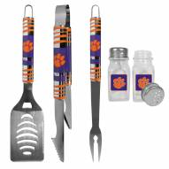 Clemson Tigers 3 Piece Tailgater BBQ Set and Salt and Pepper Shakers