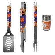 Clemson Tigers 3 Piece Tailgater BBQ Set and Season Shaker