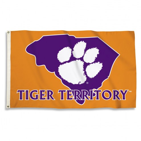 Clemson Tigers 3' x 5' State Outline Flag