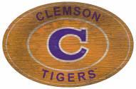 "Clemson Tigers 46"" Heritage Logo Oval Sign"
