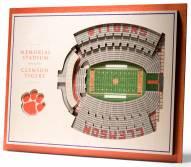 Clemson Tigers 5-Layer StadiumViews 3D Wall Art