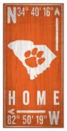 "Clemson Tigers 6"" x 12"" Coordinates Sign"