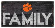 """Clemson Tigers 6"""" x 12"""" Family Sign"""