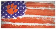 "Clemson Tigers 6"" x 12"" Flag Sign"