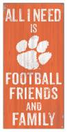 """Clemson Tigers 6"""" x 12"""" Friends & Family Sign"""