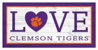 "Clemson Tigers 6"" x 12"" Love Sign"