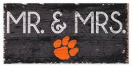 "Clemson Tigers 6"" x 12"" Mr. & Mrs. Sign"