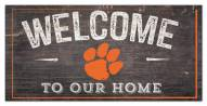 """Clemson Tigers 6"""" x 12"""" Welcome Sign"""