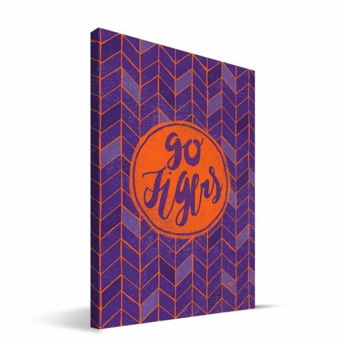 "Clemson Tigers 8"" x 12"" Geometric Canvas Print"