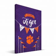 "Clemson Tigers 8"" x 12"" Little Man Canvas Print"
