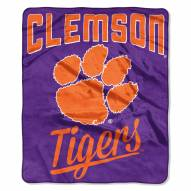 Clemson Tigers Alumni Raschel Throw Blanket