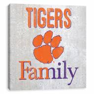 Clemson Tigers Fanmily Printed Concrete Wall Decor