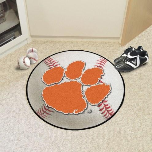Clemson Tigers Baseball Rug
