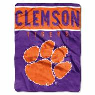 Clemson Tigers Basic Plush Raschel Blanket