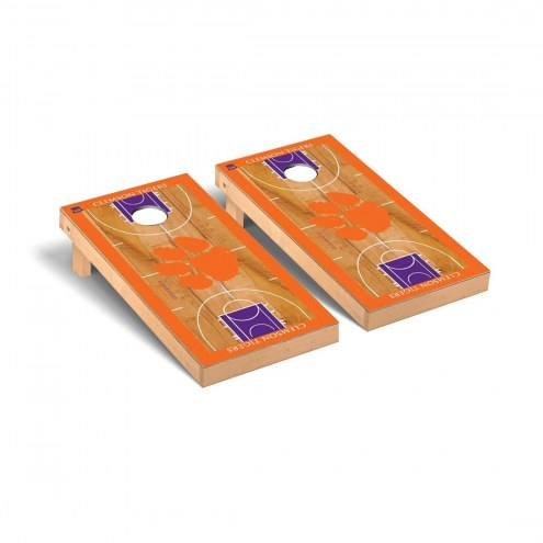 Clemson Tigers Basketball Court Cornhole Game Set