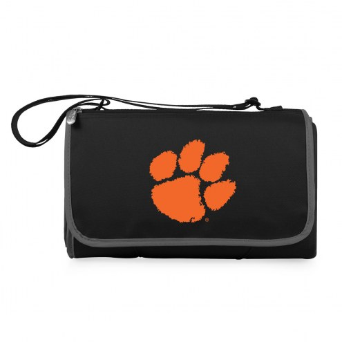 Clemson Tigers Black Blanket Tote