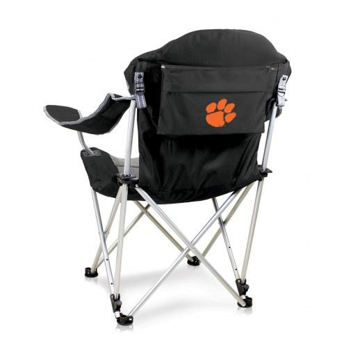 Clemson Tigers Black Reclining Camp Chair