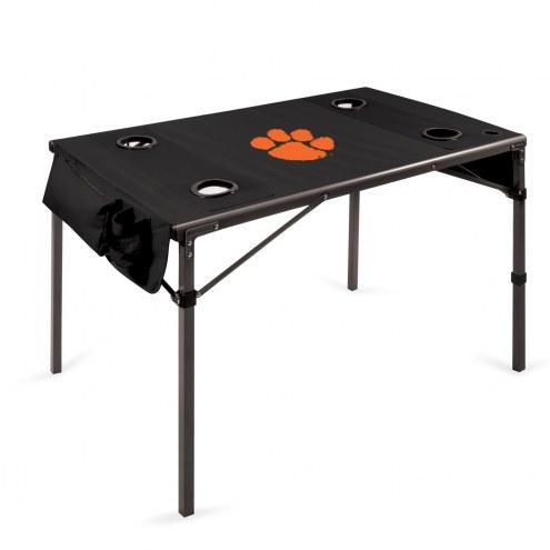 Clemson Tigers Black Travel Table