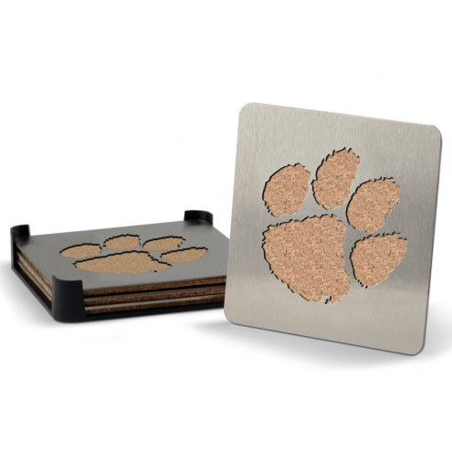 Clemson Tigers Boasters Stainless Steel Coasters - Set of 4