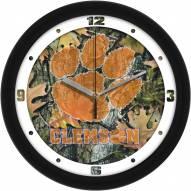 Clemson Tigers Camo Wall Clock