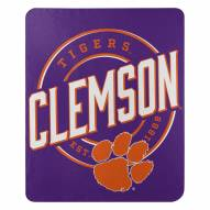 Clemson Tigers Campaign Fleece Throw Blanket