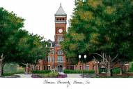 Clemson Tigers Campus Images Lithograph