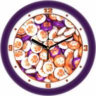 Clemson Tigers Candy Wall Clock