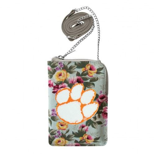 Clemson Tigers Canvas Floral Smart Purse
