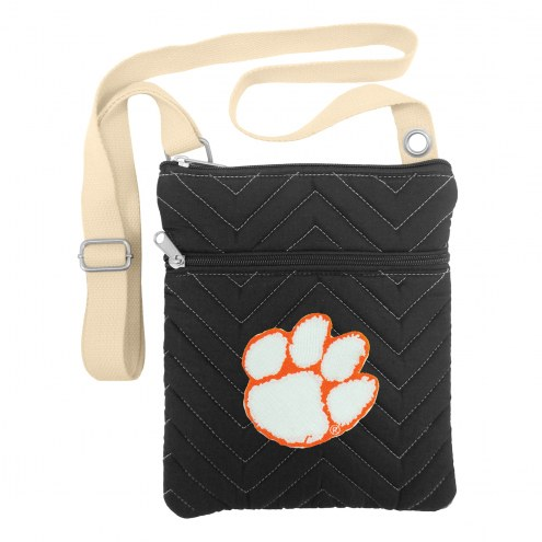 Clemson Tigers Chevron Stitch Crossbody Bag