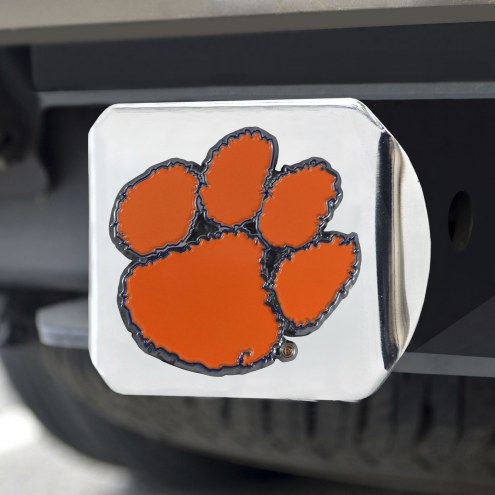 Clemson Tigers Chrome Color Hitch Cover