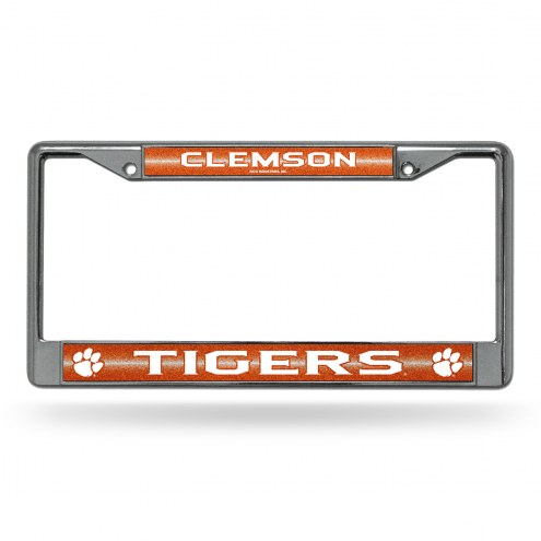 Clemson Tigers Chrome Glitter License Plate Frame