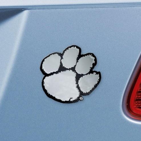 Clemson Tigers Chrome Metal Car Emblem