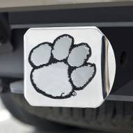 Clemson Tigers Chrome Metal Hitch Cover