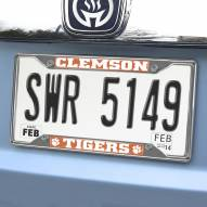 Clemson Tigers Chrome Metal License Plate Frame