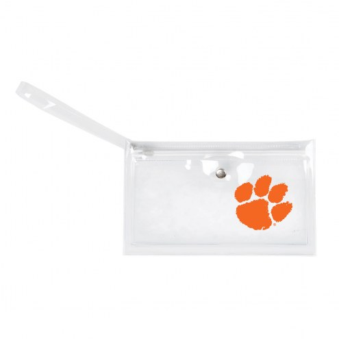 Clemson Tigers Clear Ticket Wristlet
