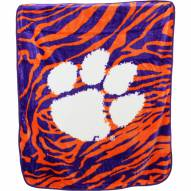 Clemson Tigers Raschel Throw Blanket