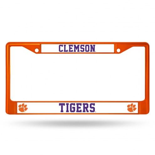 Clemson Tigers Color Metal License Plate Frame