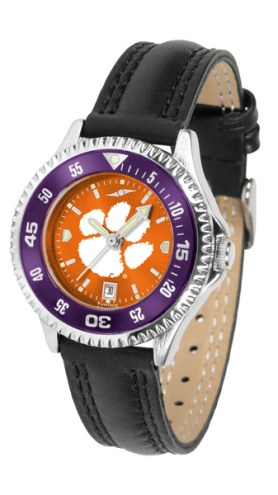 Clemson Tigers Competitor AnoChrome Women's Watch - Color Bezel