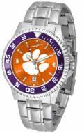 Clemson Tigers Competitor Steel AnoChrome Color Bezel Men's Watch