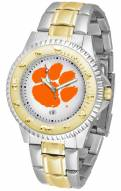 Clemson Tigers Competitor Two-Tone Men's Watch