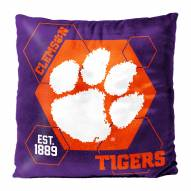 Clemson Tigers Connector Double Sided Velvet Pillow