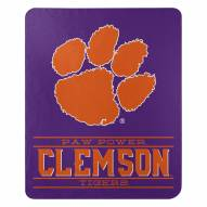 Clemson Tigers Control Fleece Blanket