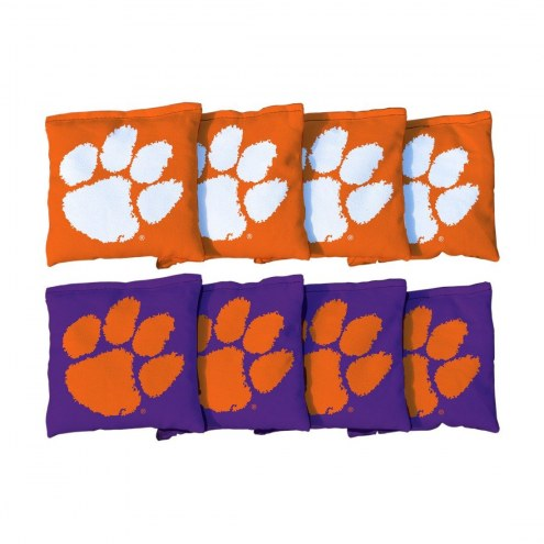 Clemson Tigers Cornhole Bag Set