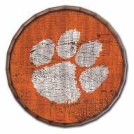 "Clemson Tigers Cracked Color 24"" Barrel Top"