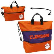 Clemson Tigers Crosshatch Expandable Tote
