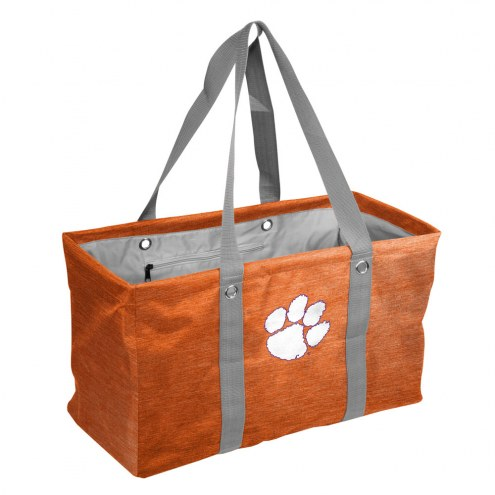 Clemson Tigers Crosshatch Picnic Caddy
