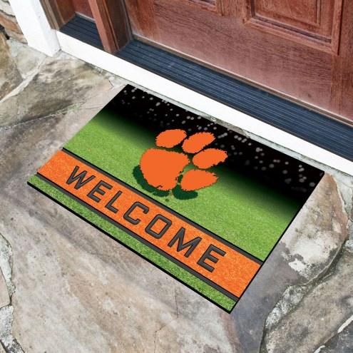 Clemson Tigers Crumb Rubber Door Mat