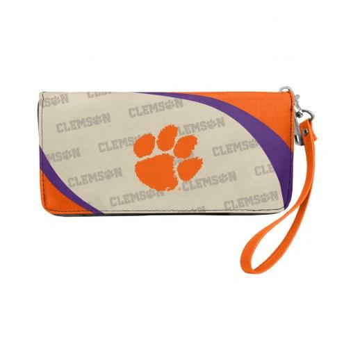 Clemson Tigers Curve Zip Organizer Wallet